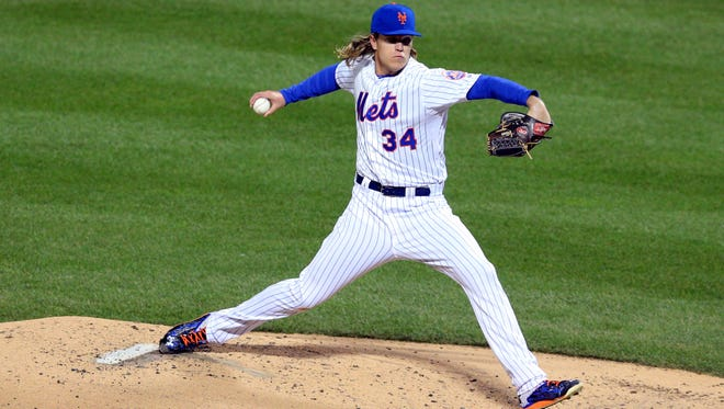 Syndergaard pitched six innings in the Mets' Game 3 win.
