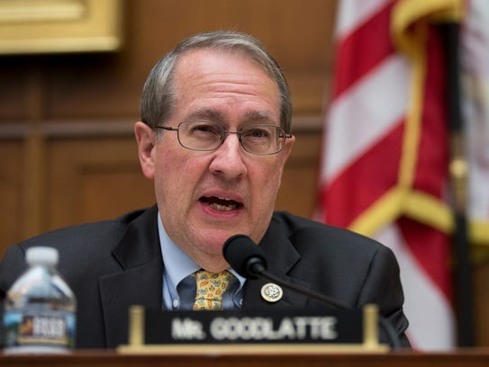 Chairman Bob Goodlatte questions witnesses during a