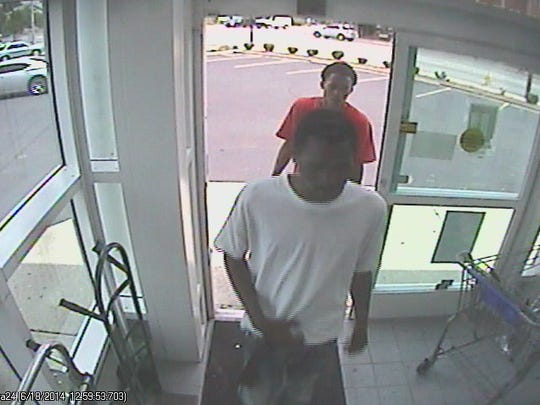Three people are suspected of assaulting a woman, stealing her credit cards and charging items in the woman's name.