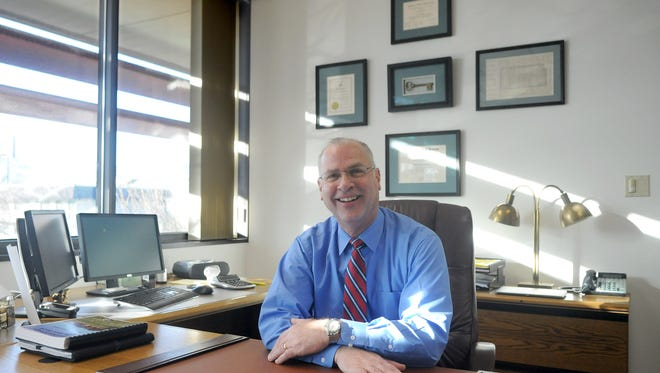 John Slaughter, new Washoe County Manager, in his office Friday Jan. 3, 2014.
