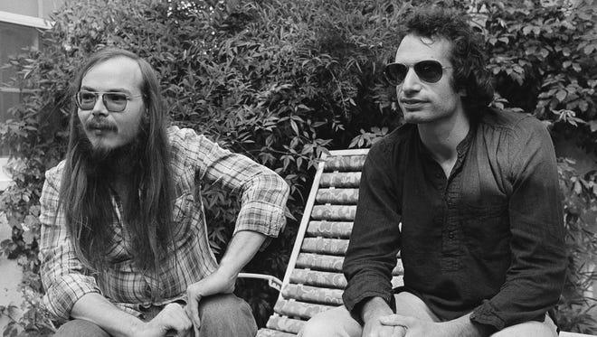 "Steely Dan (Walter Becker, left, and Donald Fagen) recorded ""Deacon Blues"" for 1977 album ""Aja."""