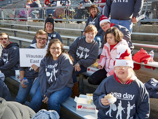 Wausau East High School students were special guests at the University of Wisconsin football game Nov. 12, 2016, in Madison.