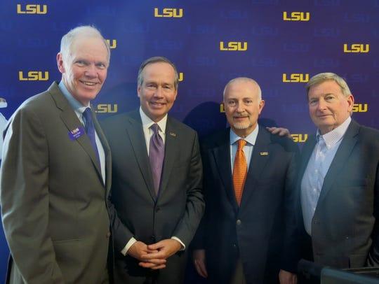 LSUS Chancellor Larry Clark, LSU Prez King Alexander,