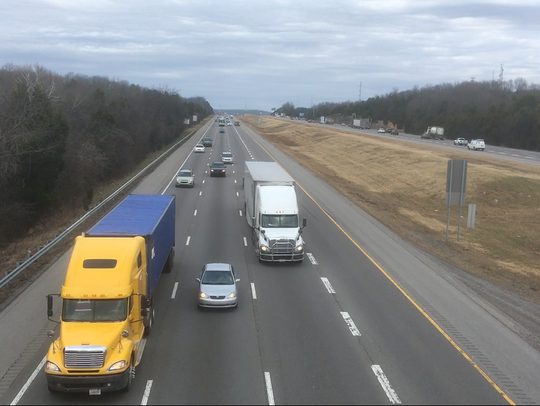 Traffic on Interstate 24 includes trucks heading to and from warehouses in Rutherford County. Companies with distribution centers here include Interstate Warehousing. This firm will be adding 50 jobs as part of a property-tax break agreement approved by the Rutherford County Industrial Development Board Wednesday (Jan. 30, 2019).