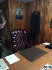 The inside of Dr. King's office