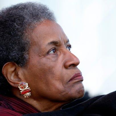 Myrlie Evers, widow of civil rights leader Medgar Evers,