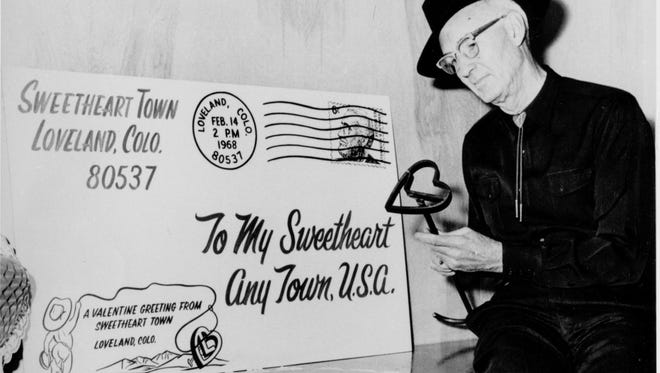 Loveland's valentine re-mailing program was started in 1947 by Ted Thompson.