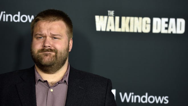 """'Walking Dead' creator and executive producer Robert Kirkman arrives at the premiere of AMC's """"The Walking Dead"""" fourth season."""