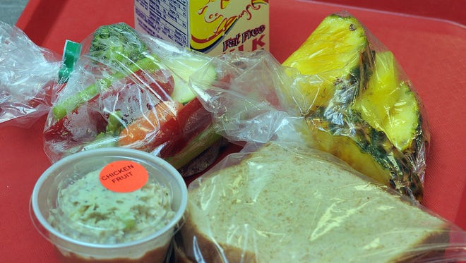 A variety of healthy foods are offered at some schools.