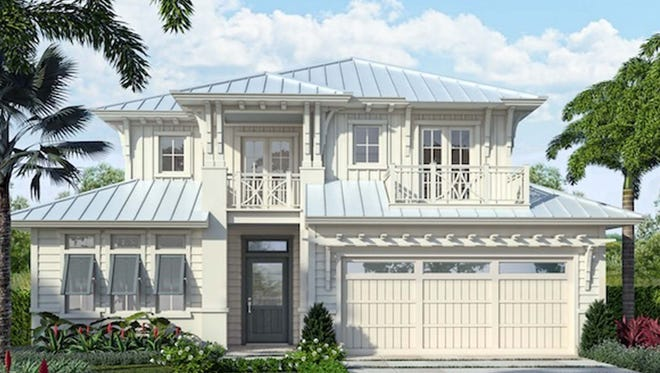 The Watlington model, underway at 41 Fifth St. S., will showcase a modern take on West Indies-inspired architecture.