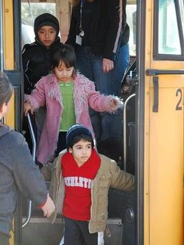Children from the Toms River Head Start program get off the bus at the Toms River Senior Center for the annual Christmas party in 2010. This year's party is scheduled for noon on Dec. 18.