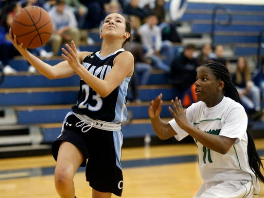 Chapin guard Alexys Cabrera drives to the basket against