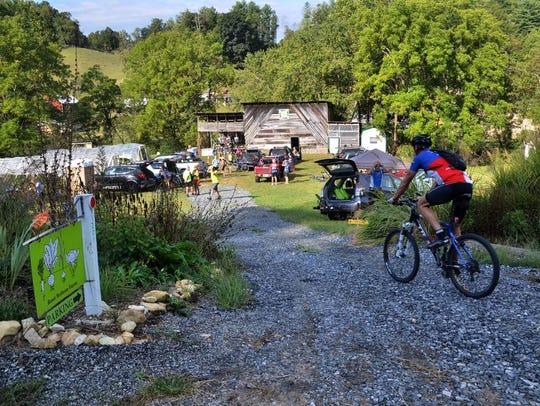 Root Bottom Farm serves as the start/finish line for