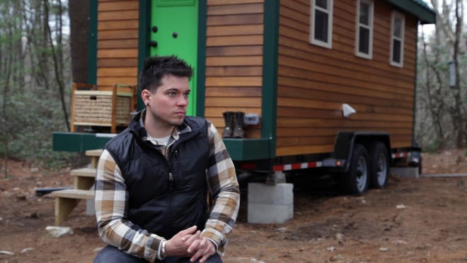 Brad Allain lives in a tiny house in Massachusetts. One thing that he loves: It's paid for.