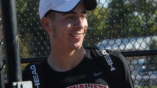 Richmond fell to North Central 4-1 in the IHSAA boys tennis state quarterfinals Friday, October 14, 2016 at Center Grove High School. Senior Eric Hollingsworth advanced in the individual tournament.