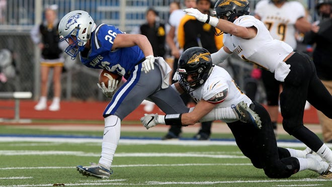 Perry-Lecompton's Thad Metcalfe (26) helped the Kaws to a runner-up finish in Class 3A last year and is one of several returning starters for Perry this season.