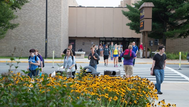 An estimated 8,500 students began their fall semester at the University of Wisconsin-Stevens Point Tuesday. Among first-year students, 46 percent are the first in their family to attend college.