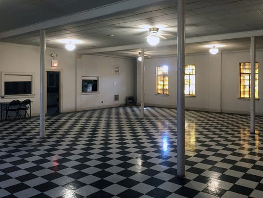 The first floor of the Masonic Lodge at 130 South Oakes
