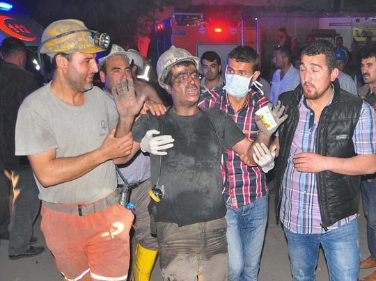 AP APTOPIX Turkey Mining Accident