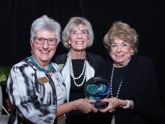 Jennifer Walker, from left, Dottie Gerrity and Lu Drackett