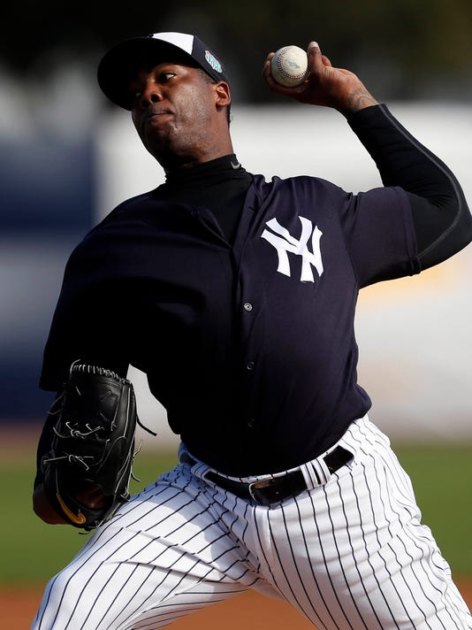 USP MLB: NEW YORK YANKEES-SPRING TRAINING WORKOUTS S BBA USA FL