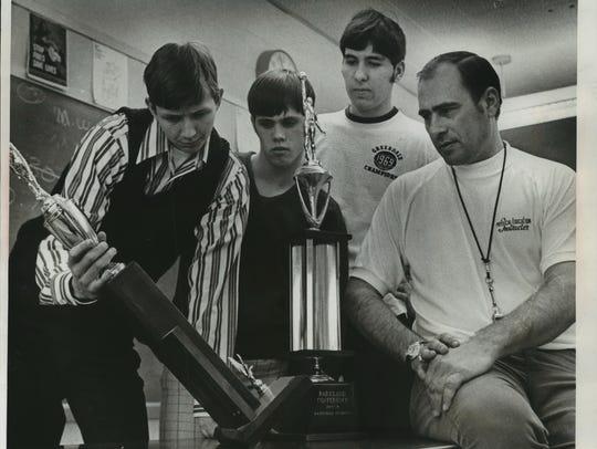 Greendale High School basketball coach Ron Barbian