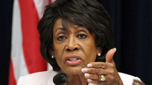 Maxine Waters, D-Calif., confronts threats at Families Belong Together