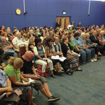 A crowd of at least 500 packed Palm Bay City Council meeting for discussion of a proposed human rights ordinance designed to protect gays, lesbians, bisexuals, and transgender people from discrimination. It was voted down by council, 4-1.