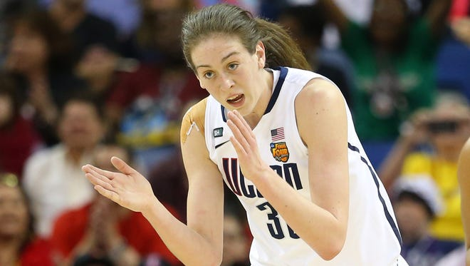 Breanna Stewart averaged 20.8 points and 6.2 rebounds in the NCAA tournament en route to being voted Most Outstanding Player as a freshman last season.