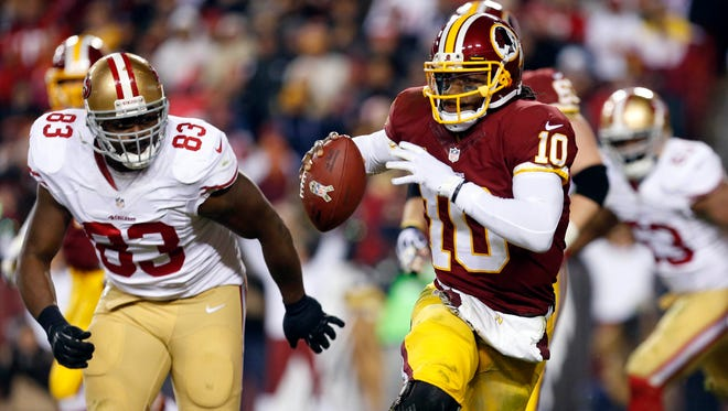 Robert Griffin III's play has been an issue as has been his relationship with teammates.