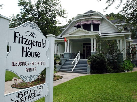 he Fitzgerald House Bed and Breakfast in Minden, La. The historic home is on the National Register of Historic homes located one block off the downtown brick streets.