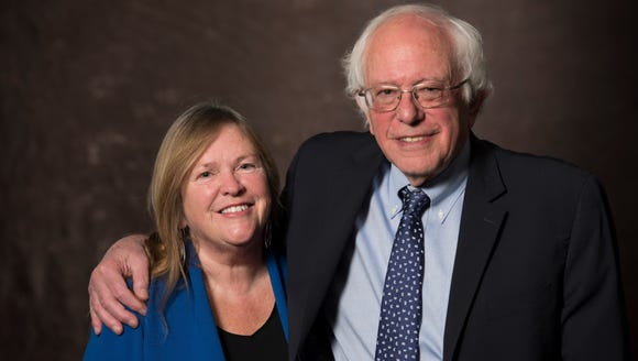 Sen. Bernie Sanders, I-Vt., with his wife Jane Sanders