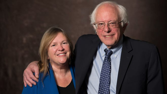 Sen. Bernie Sanders, I-Vt., with his wife Jane Sanders after taping of Capital Download on Nov. 13, 206.