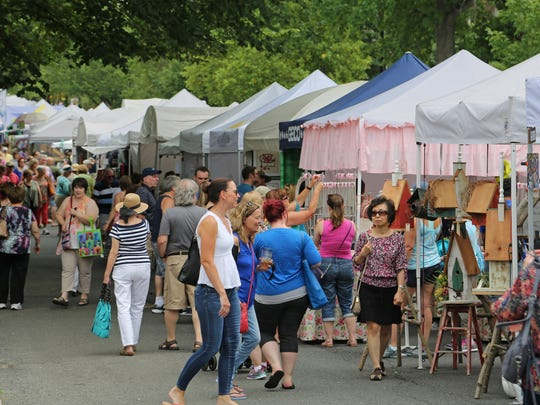 Thousands of guests enjoy the annual Haddonfield Crafts and Fine Arts Festival each summer.