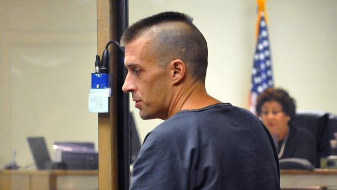 Michael Wolfe age 35 of Titusville who was charged with criminal mischief to a mosque made his first appearance Tuesday afternoon in front of a Judge at the Brevard County jail .