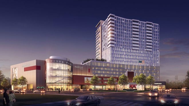Marcus Corp. might move its corporate headquarters to the company's proposed Edison Place mixed-use project. That development, include a Marcus cinema, would overlook the Milwaukee River on downtown's east side.