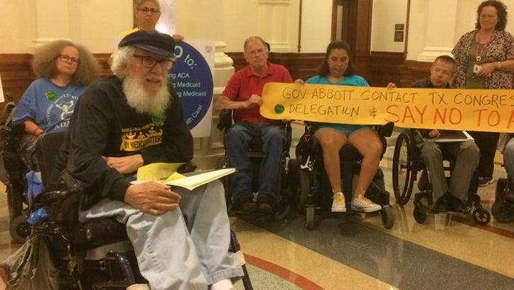 Bob Kafka, an organizer with the disabilities-rights