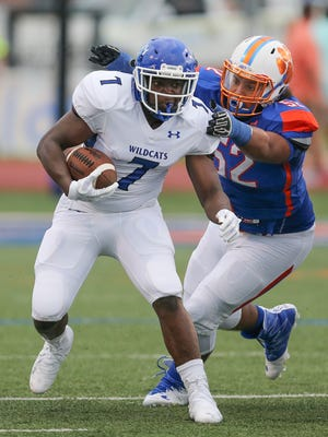 Meridian running back Antjuan Rogers is part of a new group that is yeilding familiar results for Meridian under new coach Calvin Hampton.