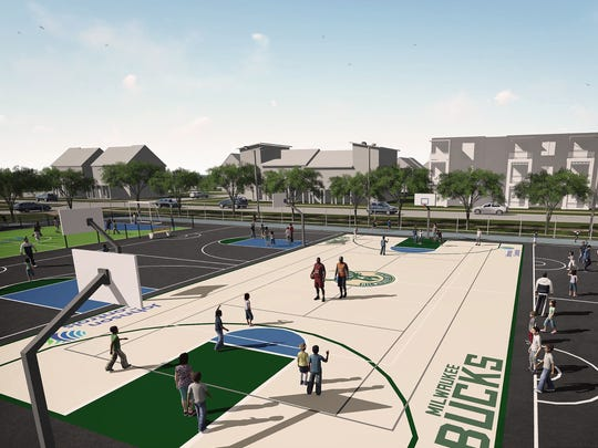 "The Milwaukee Bucks plan to donate a $150,000 ""multi-sport complex"" at Milwaukee Public Schools' Browning Elementary School and the Silver Spring Neighborhood Center."