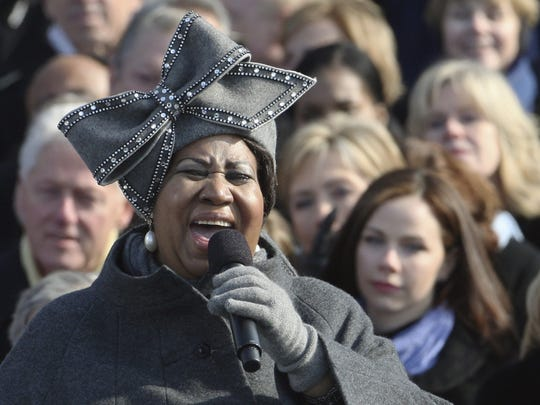 Aretha Franklin performs at the inauguration of President Barack Obama at the U.S. Capitol in Washington D.C. on Tuesday, Jan. 20, 2009.