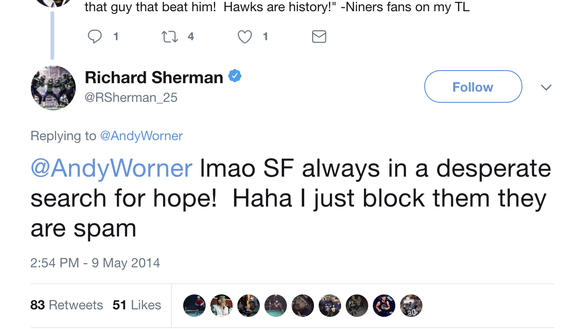 49ers fans ready to welcome Richard Sherman after hating him for years