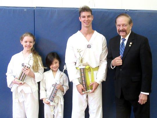 Victoria Betro, Elizabeth Buehler and Brandon Richardson