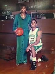 Karen Jenkins Gray and her son, Michael, during his