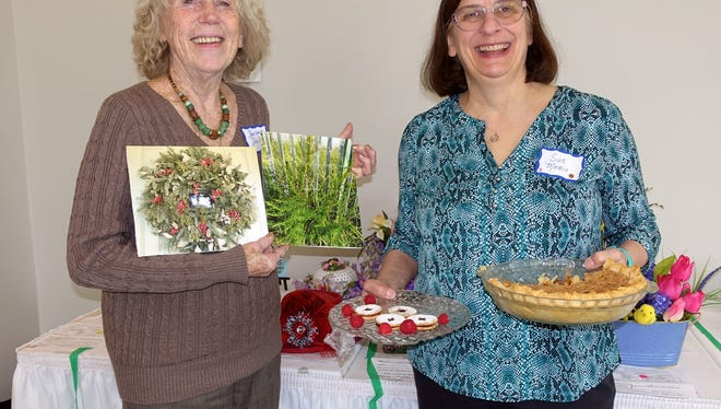 Barbara Daley (left) and Sue Medio, members of the Woman's Club of Vineland, competed successfully at the Southern District Spring Conference and Achievement Day.