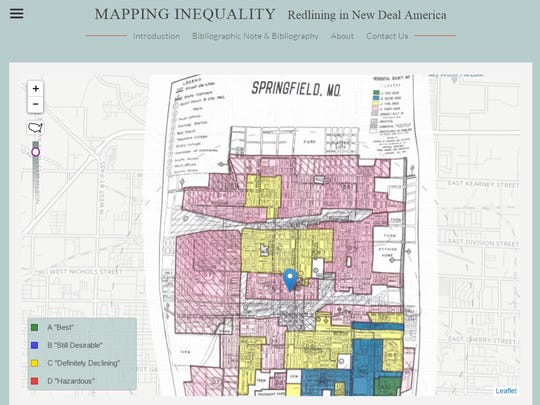 Springfield's 1937 redlining map can be viewed on the Mapping Inequality website.