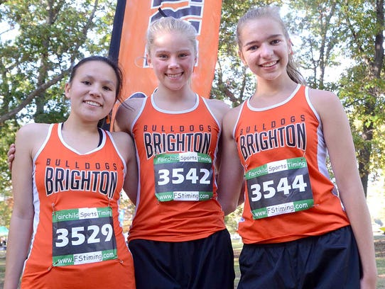 Brighton's top three finishers in the KLAA cross country