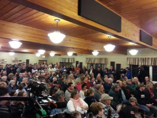 The Eldorado Community Center was overflowing with