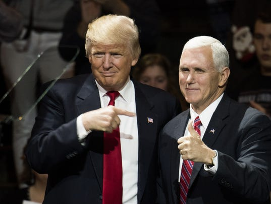 BESTPIX - President-Elect Donald Trump And Vice President Elect Pence Hold Election Victory Rally In Ohio