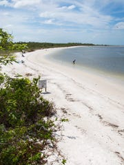 Beachgoers swim, relax and hunt for shells at Lovers