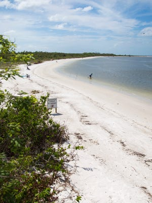 Beachgoers swim, relax and hunt for shells at Lovers Key State Park on Thursday, Oct. 12, 2017.